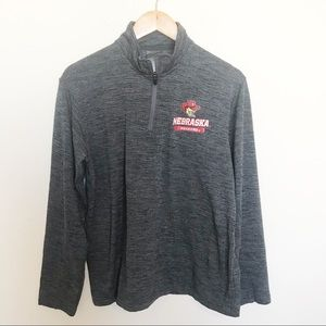 Nebraska Huskers Long Sleeve Quarter ZIP top shirt